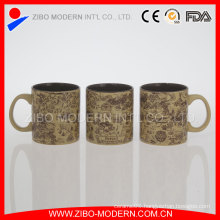 Stocked 20oz Cylinder Shape Mug with Emboss Decal Printing